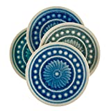 Stone & Beam Medallion Round Stoneware 4-Coaster