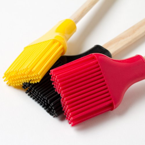 (Cook's Corner Silicone & Wood Basting Brush (Set of 3))