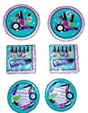 Sparkle Spa Party Bundle 9'' Plates (16) 7'' Plates (16) Napkins (32)