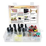 10 Set Waterproof Electrical Connector Plug Terminals Heat Shrink 2/3 Pin Way with Fuses, Clear Box