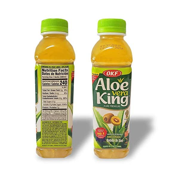 OKF Aloe Vera King Drink (Gold Kiwi, 20) Beverages kiwi