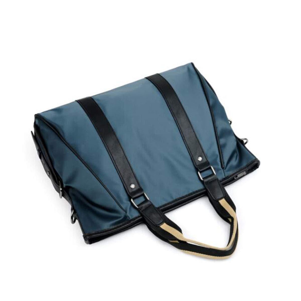 Hengxiang メッセンジャーバッグ、ラップトップブリーフケース、新しいポータブルメンズビジネストート、ブラックとブルー、サイズ:37830cm ビジネスオフィスメッセンジャーバッグ(色:ブルー)   B07PBVGNND