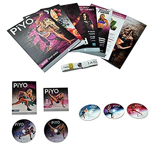PiYo Base Kit 5 DVDs Workout with Exercise Videos & Fitness Tools and Nutrition Guide by PLYO
