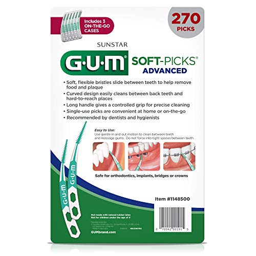 GUM SoftPicks Advanced Dental Picks Pack of 270
