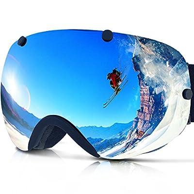 Zionor Lagopus Snowmobile Snowboard Skate Ski Goggles with Detachable Lens