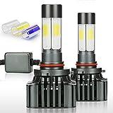 Zdatt 12000LM 9005 H10 HB3 LED HeadLight Bulbs Conversion Kit 100W Full Lights High Beam 360 Degree Lighting for Car Lamp Replacement-Amber(3000K)/White(6000K)/Light-Blue(8000K)-2 Year Warranty