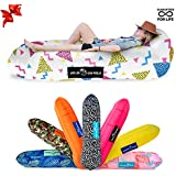Chillbo Don POOLIO Best Pool Floats Inflatable Lounger Pool Float Air Lounge Kids Hammock Air Couch Camping Accessories Portable Hammock Inflatable Chair (90s Fresh Prints White)