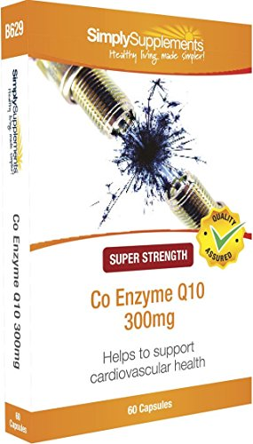 SimplySupplements Co Enzyme Q10 300mg|Healthy Heart & Increases Energy Levels|60 Capsules | Blister Pack by SimplySupplements