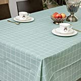 Sedioso Heavy Duty Plastic Tablecloth,(6 Pack) 3 Times Thickness Oil-Proof/Waterproof Rectangle Plaid PEVA Tablecloth,54'x108' Spill-Proof Wipeable Mint Green Tablecloth for Picnic,Party,BBQ,Outdoor