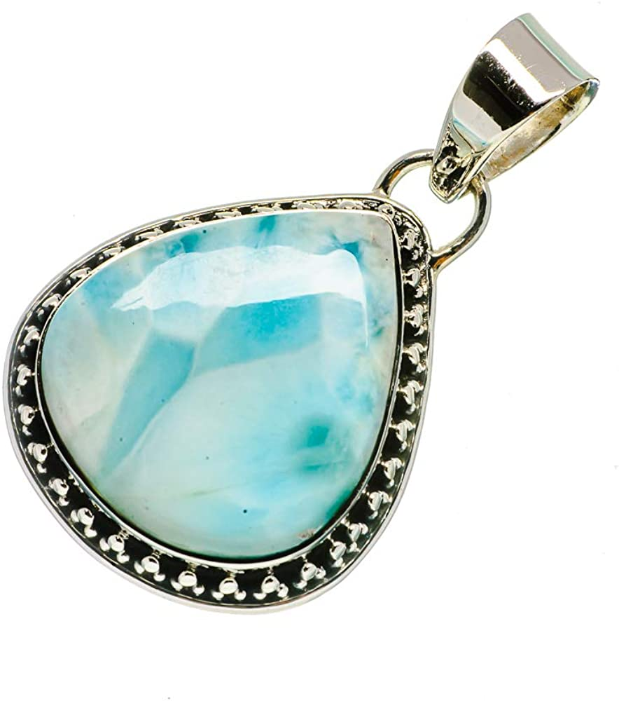 Ana Silver Co Larimar Pendant 1 1//2 Bohemian - Handmade Jewelry Vintage PD727831 925 Sterling Silver