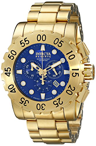 Invicta Men's 17380 Reserve Analog Display Swiss Quartz Gold Watch