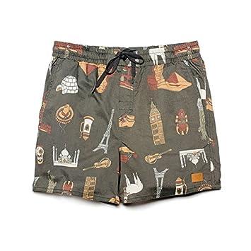 Brixton Habana authentitec Surf pantalones cortos ropa carbón Gris gris Talla:XL