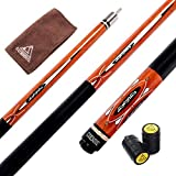 CUESOUL 57 Inch 21 Oz Pool Cue with 13mm Cue Tips with Cleaning Towel & Joint Protector