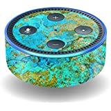 MightySkins Skin For Amazon Echo Dot (2nd Gen) - Teal Marble   Protective, Durable, and Unique Vinyl Decal wrap cover   Easy To Apply, Remove, and Change Styles   Made in the USA