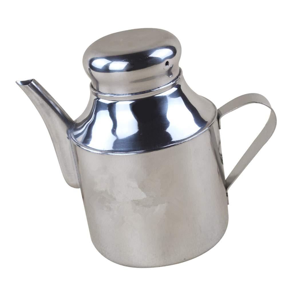 D DOLITY Stainless Steel Olive Oil Pourer Dispenser Cooking Oil Jar Can Bottle Pots - 24OZ