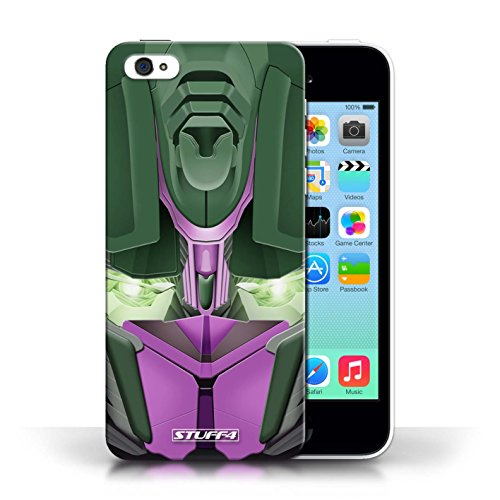 Etui / Coque pour Apple iPhone 5C / Opta-Bot Rose conception / Collection de Robots