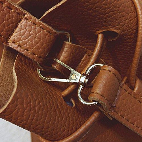 Mode à Marron Femmes bandoulière Body Messenger Sac Grande Capacité en ESAILQ Pochette Cross à main Sac cuir Sac BWTdcq0Ww