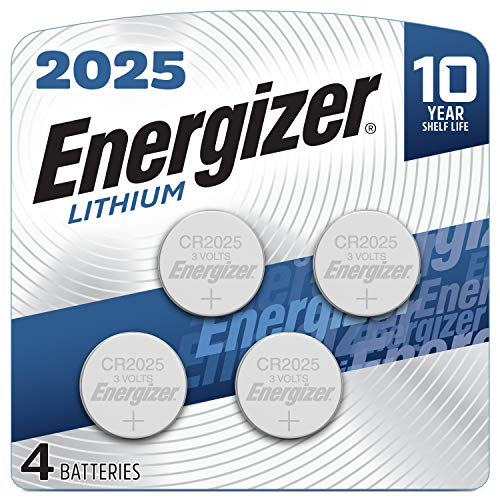 Energizer 2025 Lithium Coin Cell Battery, 4 Count