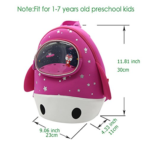 Toddler Kindergarten Alnaue Bookbag Children For Unique Preschool 3D Boys Backpack Nursery Kids School Rocket Pink Waterproof rrq8USO