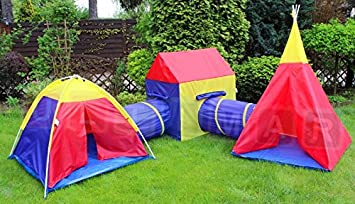 5in1 Children Adventure Play Tents City - Play Tent and Tunnel Set - Outdoor and Indoor & 5in1 Children Adventure Play Tents City - Play Tent and Tunnel Set ...