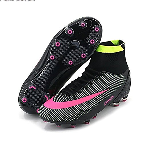 ASHION Botas futbol Hombres / Jóvenes Zapatillas deportivas al aire libre Negro