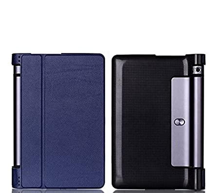 SPL Premium Quality PU Leather Book Stand Cover for Lenovo Yoga 3 8 inch 850f Tablet  Dark Blue