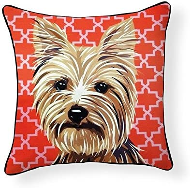 Naked Decor Pooch D cor Yorkshire Terrier Pillow, Multicolored, Multi