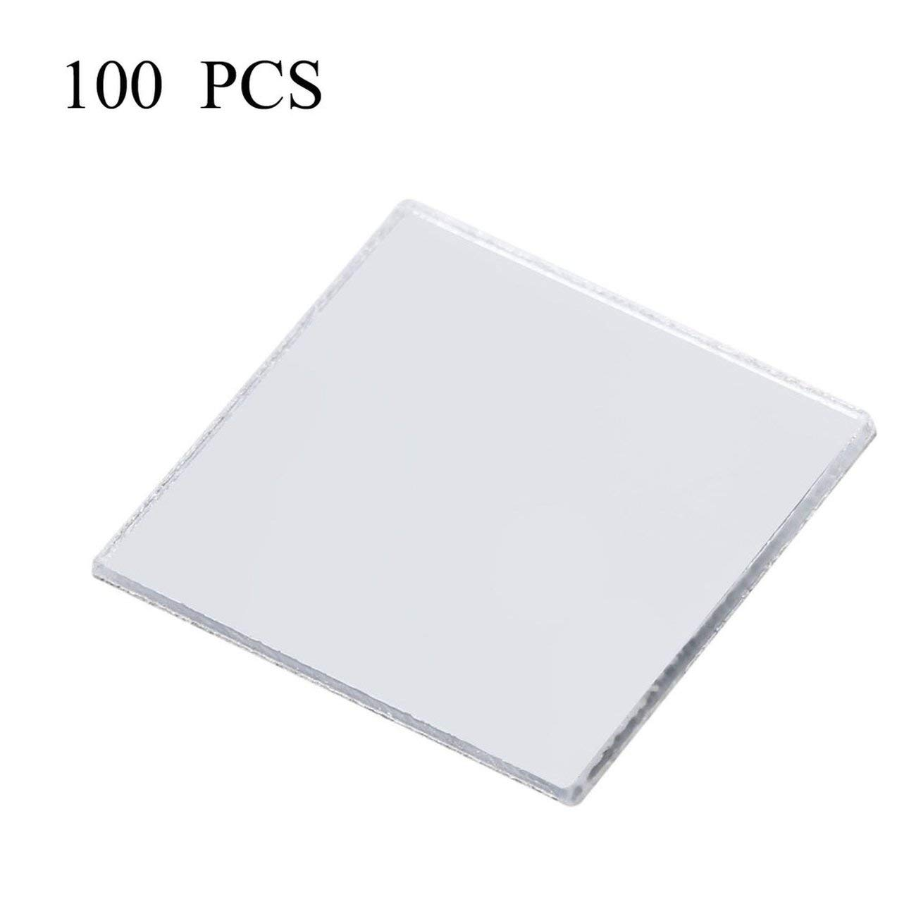Jiobapiongxin Adesivo da Parete per Piastrelle a Mosaico a Specchio 100 Pezzi Adesivo per Camera Mosaico con Decalcomania 3D su Moderno JBP-X