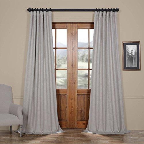 Half Price Drapes Boch-LN1857-108 Faux Linen Blackout Curtain, 50 x 108, Oatmeal (108 Linen Curtains)