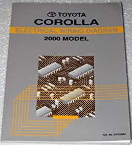 2000 toyota corolla electrical wiring diagrams zze110 series rh amazon com 2000 toyota corolla wiring schematic 2000 toyota corolla radio wiring diagram