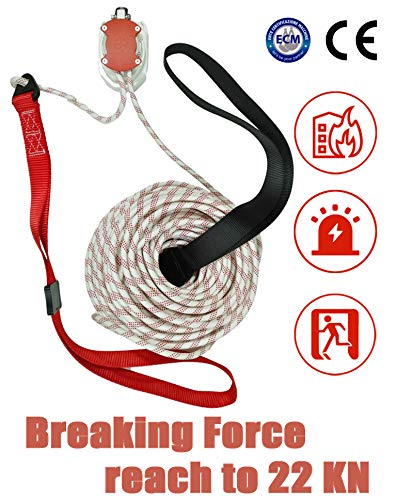 MODE Rescue Fire Escape Rope Descender Device Personal Building Emergency Evacuation Exit 98ft 9 Story