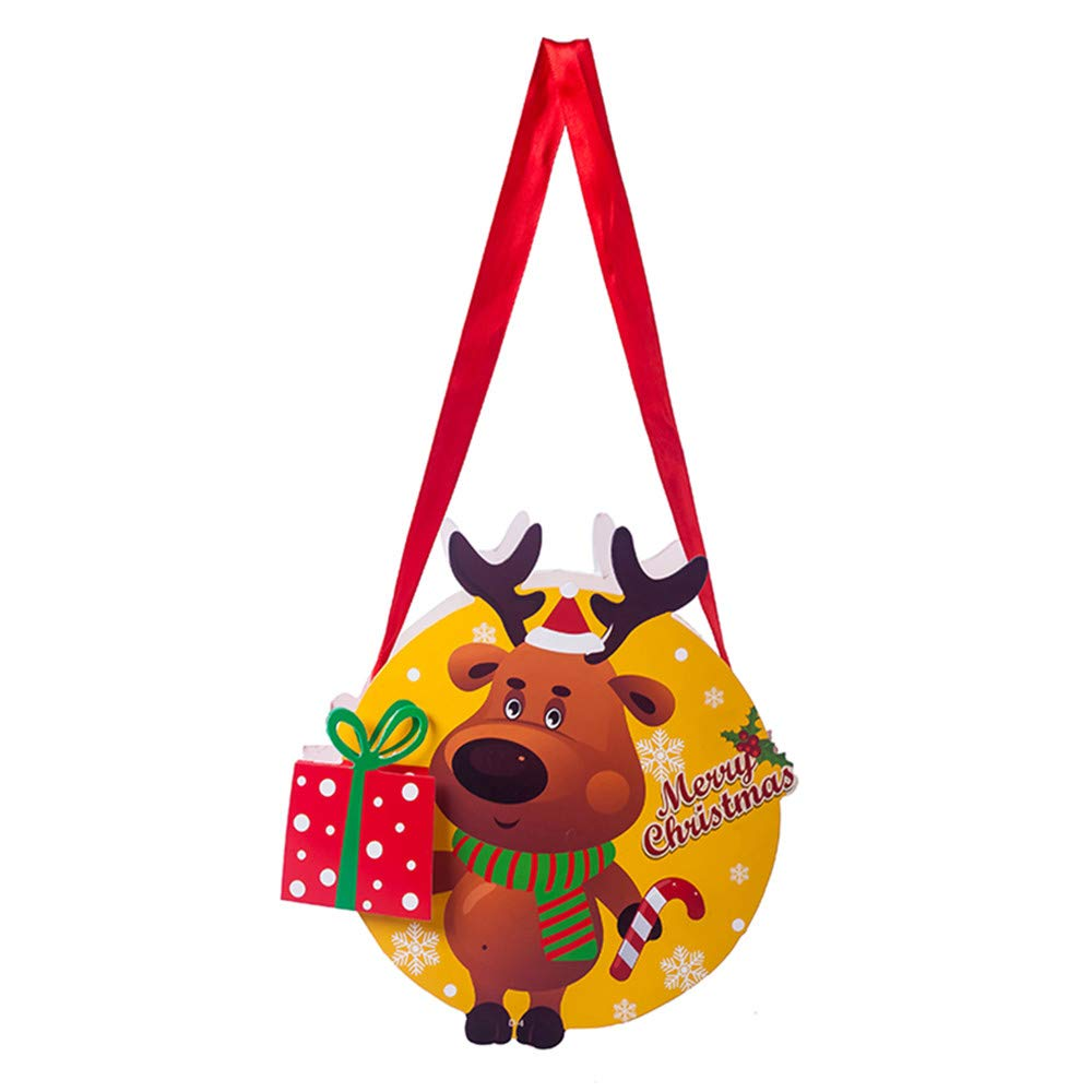 iumei Christmas Santa Xmas Bag Candy Merry Christmas Pocket Gift Party Decor Home Store Christmas Decorations (D)