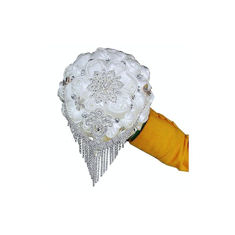 silk flower arrangements flyme wedding bouquets,bridal bride holding flowers,water drops (white)