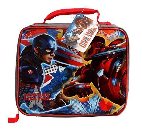 Disney Marvel Captain America Civil War Insulated Soft Lunch Bag