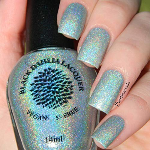 Amazon.com: Magical Moss | Silvered Mint Green Glitter Holo Nail ...