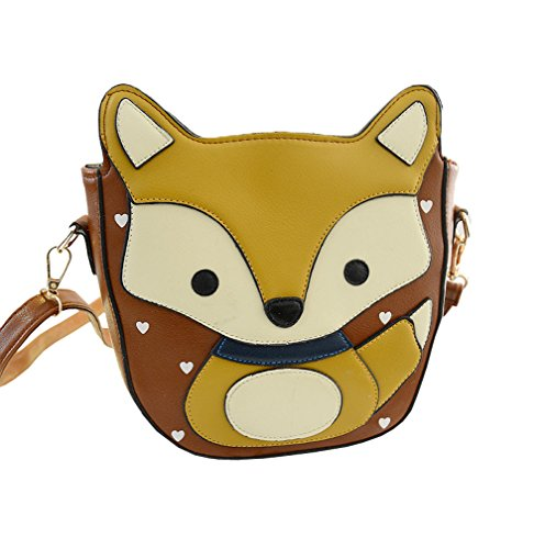 Top Shop Cute Fox Handbag Crossbody Clutch Purse Shoulder Bag Cartoon Coffee Satchel (Argos Patio Furniture)