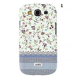 hao Blue Base Lace Series Flower Pattern Relief Back Case for Samsung Galaxy S3 i9300(Assorted Color) , 1