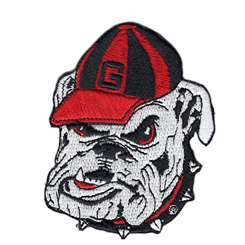Georgia Bulldogs NCAA College School Logo Embroidered Iron On Patch Small