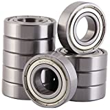 XiKe 10 Pack 6004ZZ Bearings 20x42x12mm, Stable Performance, Cost-Effective, Double Shield and Pre-Lubricated, Deep Groove Ball Bearings.