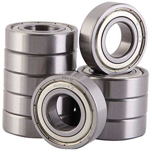 XiKe 10 Pack 6004ZZ Bearings 20x42x12mm, Stable Performance, Cost-Effective, Double Shield and Pre-Lubricated, Deep Groove Ball Bearings. by XiKe