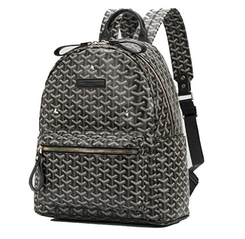 rosvin-emm-em3-rivet-travel-daypack-backpack-knapsack-schoolbagblack