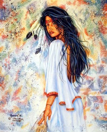 Amazon.com: Indian Maiden Native American Wall Decor Art Print ...