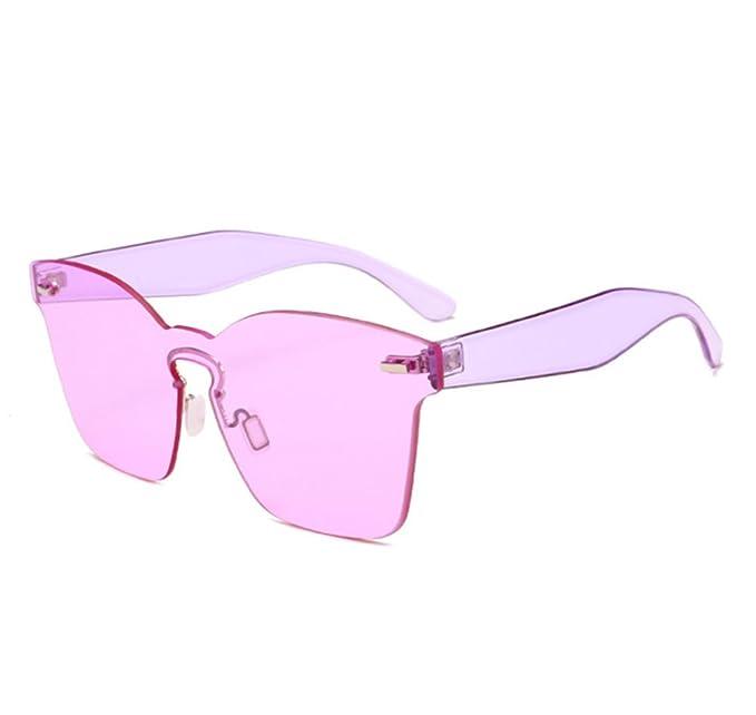 Gafas de sol cuadradas sin polarizar sin marco de la cara del caramelo Gafas de la