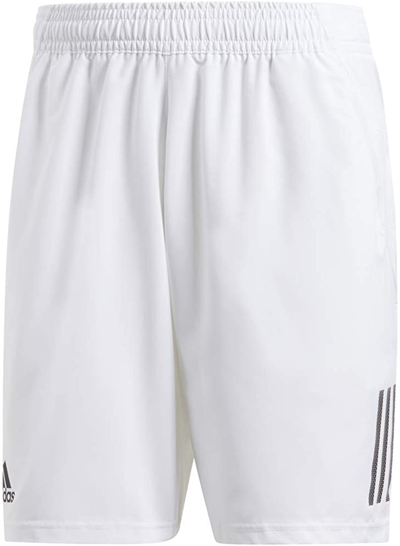adidas Men's Club 3-Stripes Regular Fit 9-Inch Quarter Length Tennis Club Shorts : Clothing