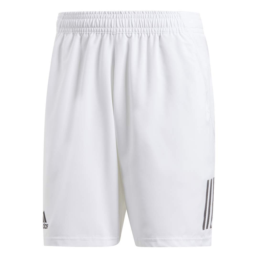 adidas Men's Club 3-Stripes 9-Inch Tennis Shorts, White/Black, X-Large by adidas (Image #1)
