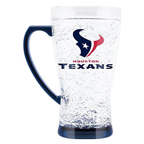 NFL Houston Texans 16oz Crystal Freezer Flared - Oz Houston Crystal 16 Texans