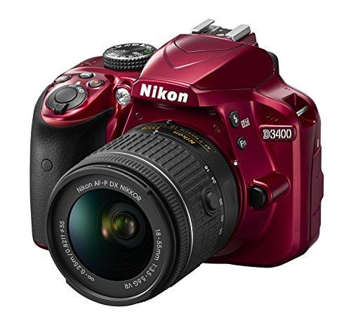 Nikon D3400 W Af-p Dx Nikkor 18-55mm F3.5-5.6g Vr (Red)
