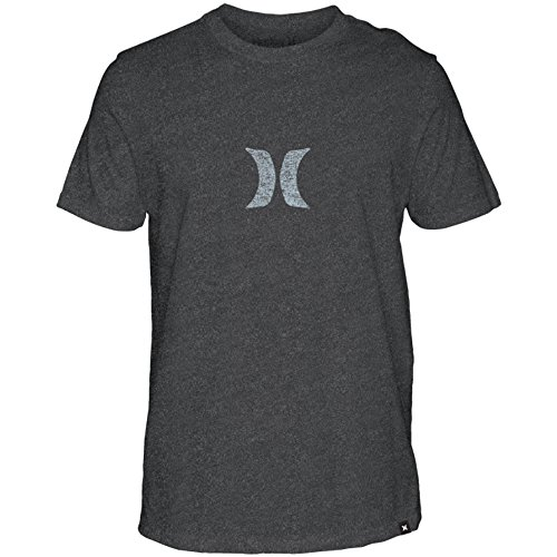 Hurley Men's Icon Push Through Tee, Black Heather (032), X-Large