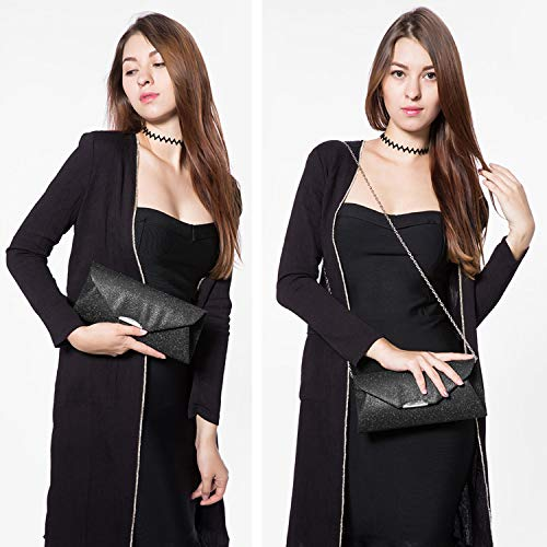 Boda Para Clutch Hombro Salidas Bolsos Fiesta De Mano Cena Bolso Gris Negro Embrague Bolsa Sobre Mujer Diseño WBPOR