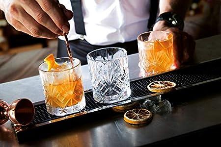 Juego de 6 vasos bajos de cristal de la colección Melodia de RCR para whisky de 230 ml. Modelo: 25935020006